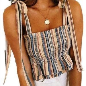 tube top crop with bows